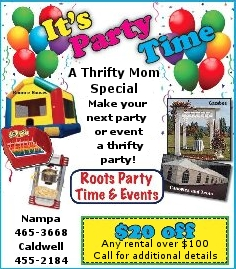 Party rentals in Caldwell & Nampa ID