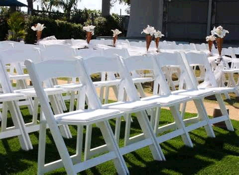 Where to find CHAIRS, PADDED WEDDING WHITE in Caldwell