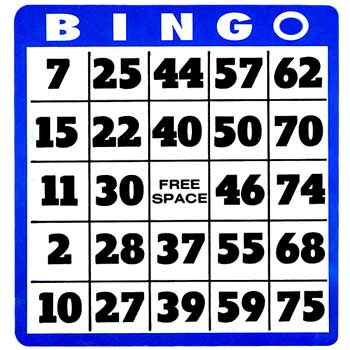 Where to find BINGO CARDS AND MARKERS in Caldwell