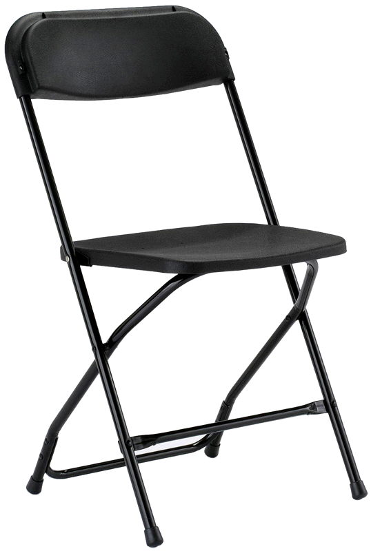 Where to find CHAIRS, PLASTIC BLACK FOLDING in Caldwell