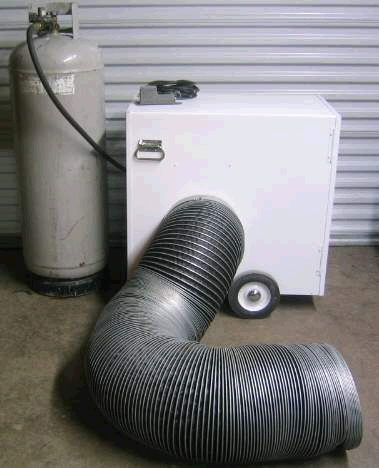Where to find HEATER DUCTING FOR 80 BTU TENT STYLE in Caldwell